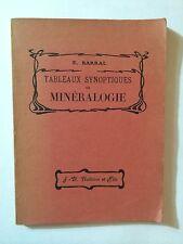 TABLEAUX SYNOPTIQUES MINERALOGIE 1903 BARRAL ILLUSTRE