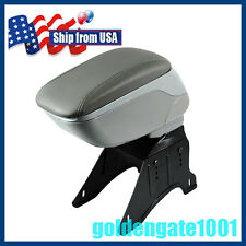 US Adjustable Gray Soft Leather Armrest Center Console Storage Box Fit Honda GG