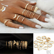 12 Pcs/set Gold Midi Finger Ring Set Vintage Punk Boho Knuckle Rings Jewelry HOT
