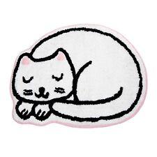 Cute White Cat Whiskers Bath Nursery Mat Children Cotton Floor Rug  49 x 64 cm