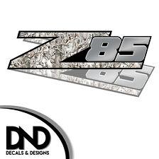 Z85 Decals 2 Pk Sticker for Chevy Silverado Sierra truck Snow Buck - D&7 8in