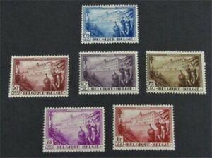nystamps Belgium Stamp # B125-B130 Mint OG H $30   L23y120