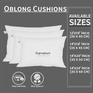 Rectangle Cushions Pads Insert Inner Filler Scatter Couch Oblong Pillow Pillows