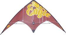Lenkdrachen Kinderdrachen Didakites Eagle braun 180 x 80 cm Kite Drachen 2 Leine