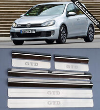 VW Golf Mk6 GTD (09 - 12) 4 Door Stainless Steel Sill Protectors / Kick Plates