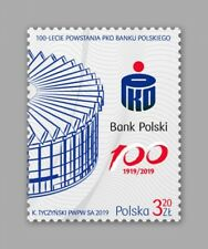 POLEN 2019 Stamp 100th anniversary of the establishment of PKO Bank Polski(2019;