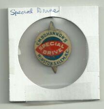 Vintage F.M. Bohannon's Special Drive Winston Salem NC Tin Tobacco Tag