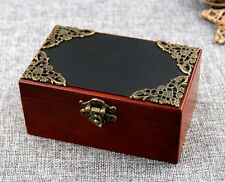 Vintage Rectangle Black Cover Music Box: Pandora Heart - Everytime You Kissed Me
