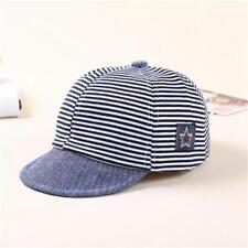 Baby Boy Summer Hats Striped Cotton Eaves Baseball Cap Sun Hat Beret Sunhat -S