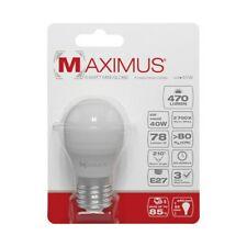 AMPOULE LED SPHÉRIQUE E27 6W 470 LUMENS 2700K  BLANC CHAUD 20000 HEURES