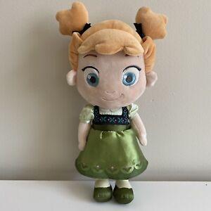 "Disney Store Frozen Plush Baby Anna Child Toddler Plush Doll 14"" Childhood"