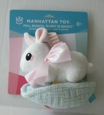 New Manhattan Toy Plush Pull Musical Bunny in Basket-Age 0+ Cognitive Skills