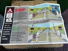 BRITISH RAILWAYS AUTOMATIC CROSSING BARRIER SAFETY POSTER H.M.S.O. 1970 ORIGINAL