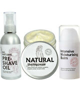 Executive Shaving Natural Shaving Cream, Pre-Shave Oil & Moisturising Balm Set