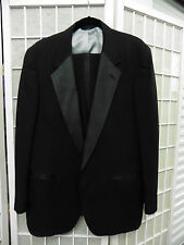 Men's 60-70s Black Christian Dior Tux sz 42R Jacket 42x31 Pants