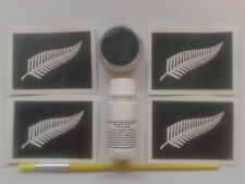 New Zealand fern glitter tattoo set rugby World Cup Internationals