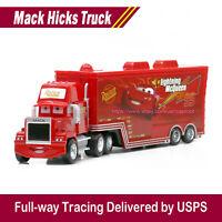 Disney Pixar Cars Lightning McQueen's Mack Hauler Truck Diecast Toys 1:55 Car