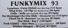 DJ Remix Funkymix 93 new 2 Vinyl Gwen Stefani Beyonce 50 Cent Ultimix Hot Tracks