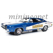 AUTOWORLD AW231 RACING DREAMS HAWAIIAN 1969 DODGE CHARGER 1/18 DIECAST CAR BLUE