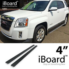 Running Board Side Step Nerf Bars 4in Silver Fit Chevy/GMC Equinox/Terrain 10-17