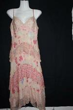 FOREVER NEW Women's Pretty Pink Floral Layed Strappy Silk Dress - Sz 10