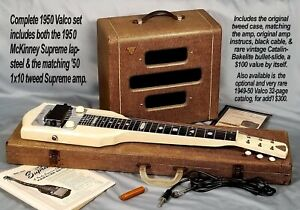 Vintage 1954 Valco McKinney Supreme lap-steel & amp set, n. mint, ohsc & more!