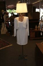 Vintage 1940s Adjustable Ladies Mannequin Floor Lamp Clothed Form Torso Model