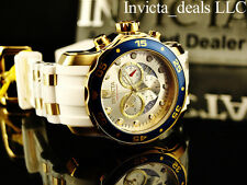 Invicta Men's Scuba Pro Diver Swiss Chrono 18K Gold Plated Champagne Dial Watch