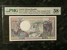 CENTRAL AFRICAN REPUBLIC 1000 Francs - AU  -- PMG graded 58 EPQ