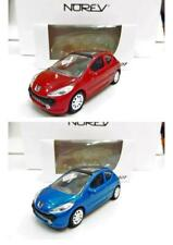 Lot de 2 Peugeot 207 3 Portes (Rouge, Bleu) 1/64 NOREV Neuf !!