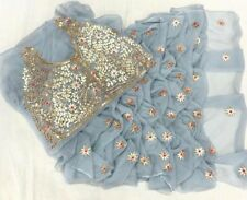Indian Saree Sari Bollywood Style Traditionnel Bridal Women Wedding Designer L 10