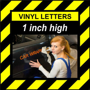 5 Characters 1 inch (25mm) high Self-adhesive vinyl stick on letters and numbers