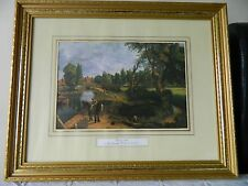 Vintage print of Flatford Mill by John Constable in gold tone frame