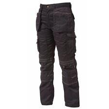 Apache Heavy Duty Cargo Work Wear Cordura Trousers Kneepad Holster Pockets Stone