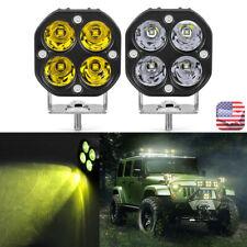 3inch LED Work Light Bar 40W Spot Off-road Pods Amber White Fog ATV SUV Truck US