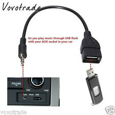 3.5mm Audio AUX Jack to USB 2.0 Type A Female OTG Converter Adapter Cable