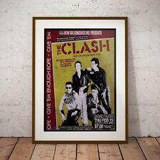 More details for the clash 1979 early usa concert poster print three sizes new exclusive