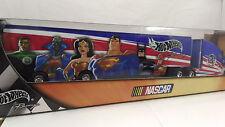JUSTICE LEAGUE EVENT TRANSPORTER Hot Wheels Racing NIB (2004, Mattel) NASCAR