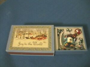 MR. CHRISTMAS ANIMATED MATCHBOX MUSIC BOX-PLAYS JOY TO THE WORLD-2010