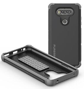 PUREGEAR BLACK DUALTEK EXTREME RUGGED CASE ANTI-SHOCK COVER FOR LG V20 PHONE