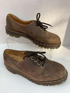 Dr Doc Martens Air Wair Brown Leather Shoes Oxford Mens 10 Lace Up