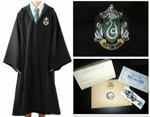 Harry Potter Kids Slytherin Robe Tie and letter size M