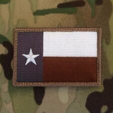Texas TX State Flag Morale Patch Desert ACU Tactical Coyote