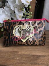 Roberto Cavalli Parfum Leopard Print Pouch Zipped Make Up Cosmetic Bag