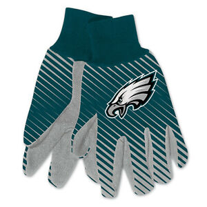 NEW Football Philadelphia Eagles Protective Utility Gripped Gloves Licensed