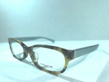 9108ff216a NEW AUTHENTIC COACH HC6086D 5357 Dark Vintage Tort Crys Teal Eyeglasses 54mm