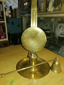 Unique Vintage / antique Brass Candle wall Sconce. With moving light deflector