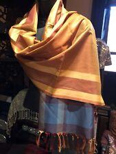 Vintage Japan Orange Golden Silk Scarf Wrap