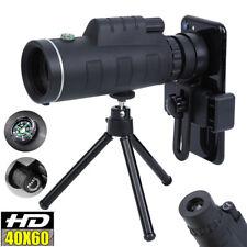 40X60 Hd Lens Monocular Telescope+ Tripod+ Clip For Universal Phone Camping Hunt