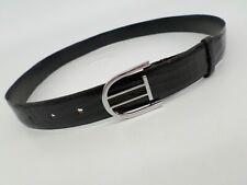 Genuine Lizard Skin Belt 34 90 Lagarto Legitimo Leather Dress Black Argentina